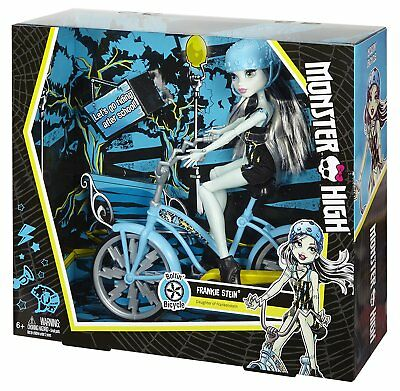 NEW Licensed Monster High Frankie Stein Boltin' Bicycle & Doll Playset by Mattel