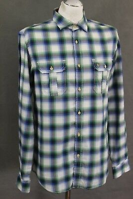 cecc5109853a81 TED BAKER Mens CHORE Blue   Green Check REGULAR FIT SHIRT Ted Size 3 -  Medium