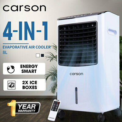 CARSON 4in1 Evaporative Air Cooler Portable Fan Purifier Humidifier Cooling