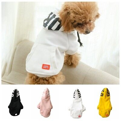 Dog Clothes Sweatshirt Pet Puppy Coats Hoodie Small Large Dogs Clothing Plus US