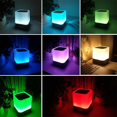 1xLED Bluetooth Speaker Music Smart Touch&Night Light Desk Lamp USB Rechargeable