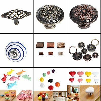 Kitchen Furniture Door Cabinet Knob Ceramic Alloy Drawer Pull Handle Hardware