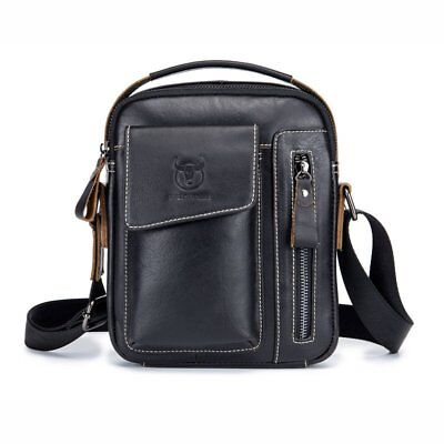 Mens Womens Real Leather Shoulder Crossbody Bag Travel Work Mini Handbag Pouch
