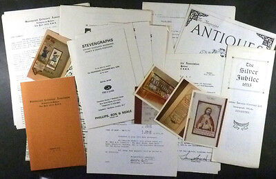 Antique Stevensgraphs: Lot of 1970s Research Material from American Collector
