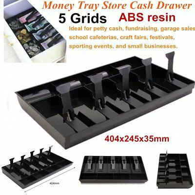 5Grids Money Tray Store Cash Drawer Security Register Storage Box Insert Tray F