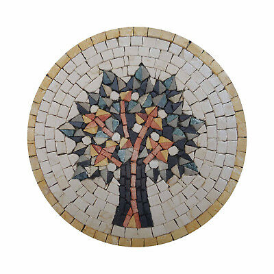 Vien Of Life Yellow Symbolic Stylish Type Of Tree Marble Stone  Fine Mosaic Art