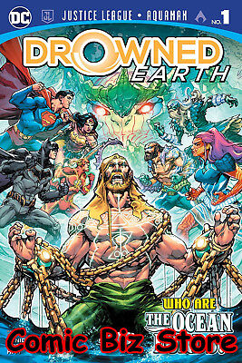 Justice League Aquaman Drowned Earth #1 (2018) 1St Printing Main Cover ($4.99)