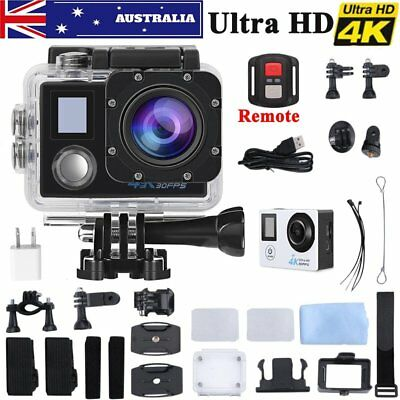 Ultra HD 4K 1080p WIFI Waterproof Sports Action  Camera Fit Mount charger GIFT