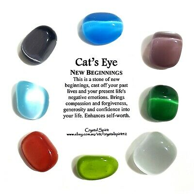 *1* CATS EYE Tumbled Stone Approx / Tumble Stone *TRUSTED SELLER*