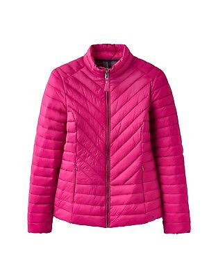 Joules Elodie Quilted coat. Deep Fushcia, pink. Various Sizes. New with Tags