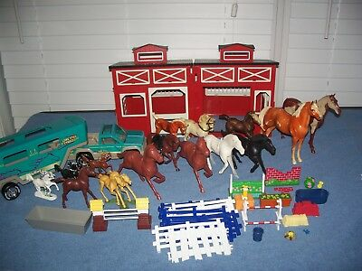 Red Stable Lone Star Truck Trailer Breyer Nylint West Germany Horses Accessories