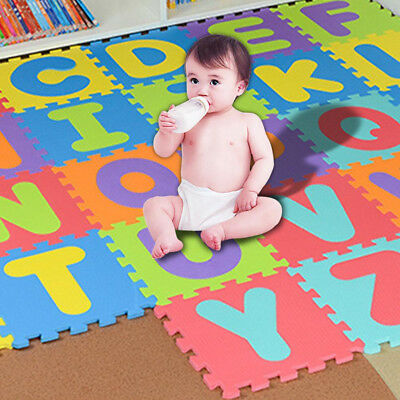Play Mat Puzzle Toy Alphabet Letters Numerals Educational Baby Crawling Rug Toys