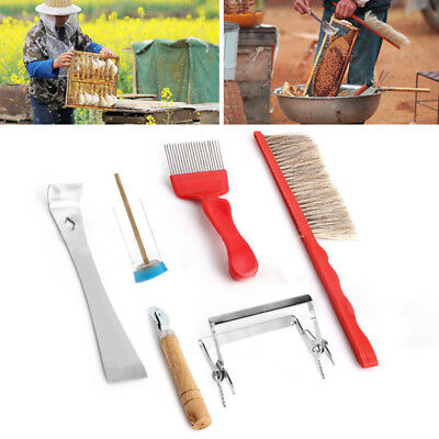 7 in One Beekeeping Equipment Bee Brushes Catcher Fork Cage Queen Hive Tools Set