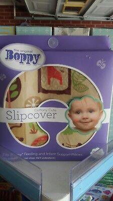 Brand New! Sealed! Boppy Pillow Classic Slipcover Jungle Patch Zoo Animal Print