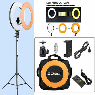 "18"" LED SMD Ring Light Kit with Stand Dimmable 5500K for Makeup Phone Camera US"