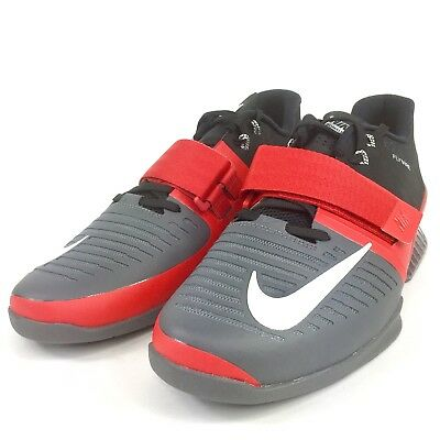 best cheap b01df 5d7c8 Nike Romaleos 3 Mens Weightlifting Shoes Red White Grey Black 852933 600  Size13