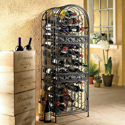 Wine Rack 45-Bottle Floor Wine Rack Antique