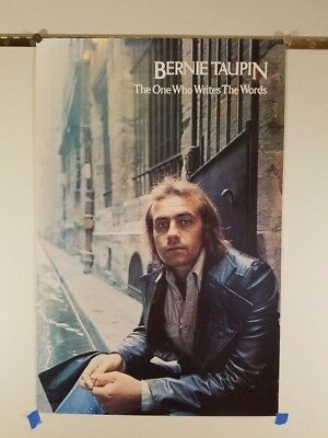 #161 vintage 1970s Taupin POSTER the one who writes the words Elton John 20x30