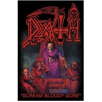 DEATH scream bloody gore Textile Poster Flag
