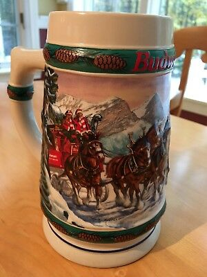 Budweiser Holiday Stein Collection 1993 Special Delivery Christmas Collectable
