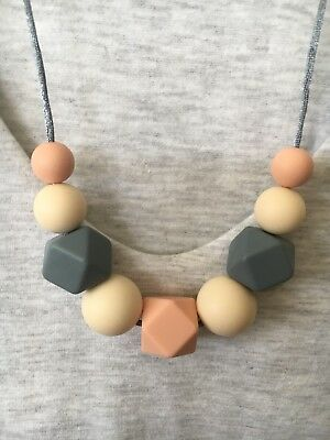 Silicone Necklace (was teething) for Mum Jewellery Beads Aus Gift Free Post