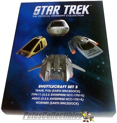 Eaglemoss Star Trek STSHTL3 Shuttlecraft 4-Pack # 3 W/Collector Magazines