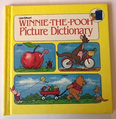 WALT DISNEY WINNIE THE POOH PICTURE DICTIONARY GOLDEN Book Hardcover 1981