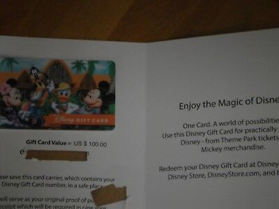 100 Disney Gift Card Never Used 96 00 Picclick