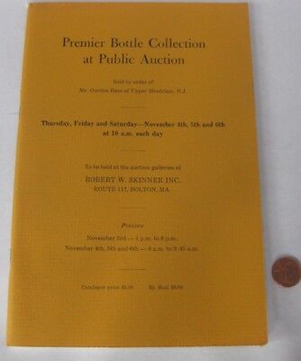 1971 Gordon Bass Bottle Collection Skinner Auction Catalog photos