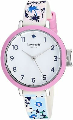 KATE SPADE Women's 34mm park row tropical silicone Watch KSW1446