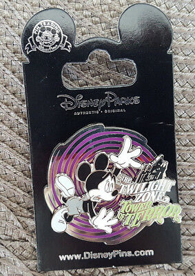 Disney Pin 2018 Mickey Mouse Twilight Zone Tower Of Terror Spinner New On Card