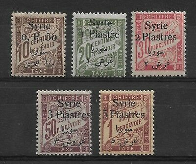Syria French Mandate 1924,Postage Due,Scott # J28-J32,VF Mint Hinged*OG (F-8)