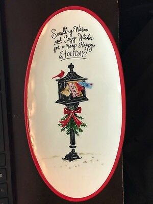 Booville by Magenta maker of Rae Dunn Christmas Sending Warm and Cozy Oval Plate
