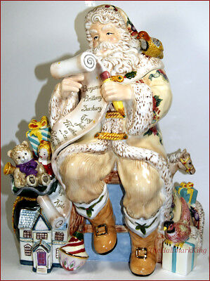 Waterford Holiday Heirlooms Georgian Santa Cookie Jar, Absolutely Ex Condition!