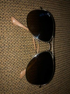 c0aa7a2482d647 GENTLY USED Ray Ban RB3362 Aviator Cockpit 112 85 Gold Frame Brown Lens SAVE