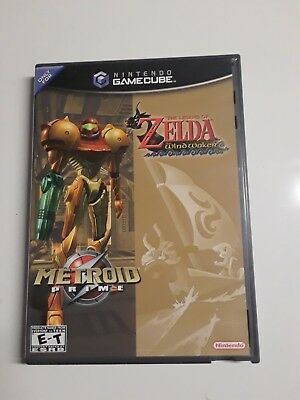 Legend of Zelda: The Wind Waker & Metroid Prime Combo Nintendo Gamecube Complete