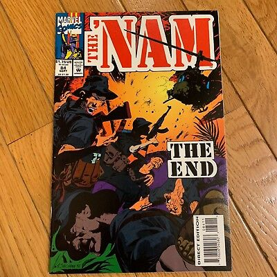 Marvel THE 'NAM #84 End 1993 Final Issue Rare Low Print HTF Vietnam VF-NM DIRECT