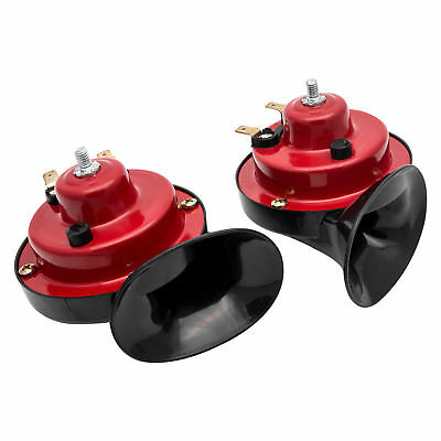 12V New Loud Air Horn Set Dual Tone Car Van Boat Siren Twin Snail Lorry Horns
