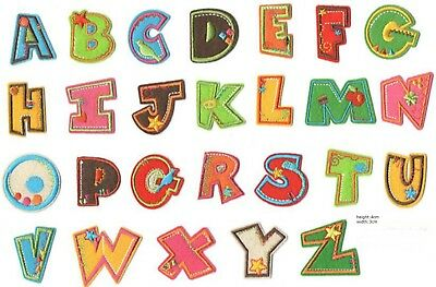 promotion A-Z Alphabet Letter Patches Embroidered Iron On Patch Diy Crafts