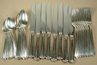 Courtney S L & G H Rogers Silverplate 32 Piece Set Service For 8 1935