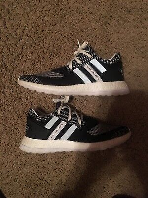 f8c93404d ADIDAS Y-3 Y3 Pure Boost BY8955 Crystal White Black DS Size 9.5 10 ...