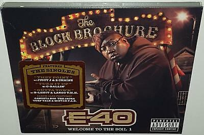 E-40 The Block Brochure Welcome To The Soil 1 (2012) Brand New Sealed Cd B-Legit