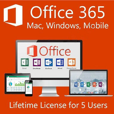 INSTANT Microsoft Office 365 For Windows & Mac Pro Plus - 5 PC Devices