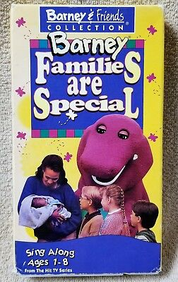 BARNEY FAMILIES ARE SPECIAL Vhs Video Tape 1995 Sing-Along Backyard Gang  Lyons