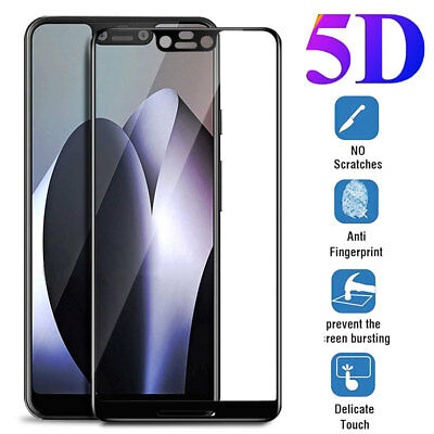 9H 5D Full Coverage Tempered Glass Screen Film Protector for Google Pixel 3/3XL