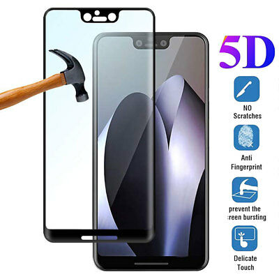9H Hardness 5D Full Covered Tempered Glass Film Protector for Google Pixel 3 3XL