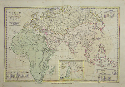 1802 map of the World by Robert Wilkinson