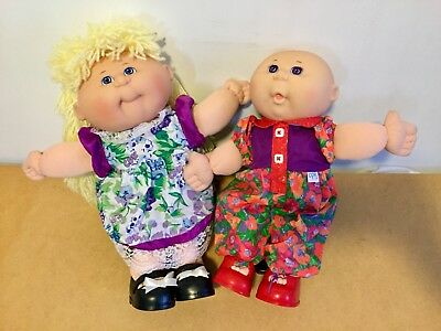 Vintage Cabbage Patch Kids And CPK Clothes 1995 Mattel