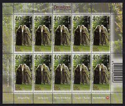 New Zealand 2001 Lord of the Rings - The Fellowship Sheetlet MNH