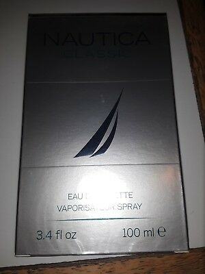NAUTICA CLASSIC 3.3 oz / 3.4 oz Cologne for Men * New In Sealed Box *